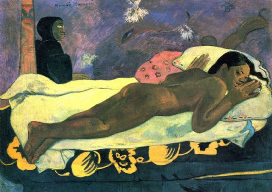 Gauguin, Paul: Manao Tupapau (The Spirit of the Dead Watches). Fine Art Print/Poster. Sizes: A4/A3/A2/A1 (001536)
